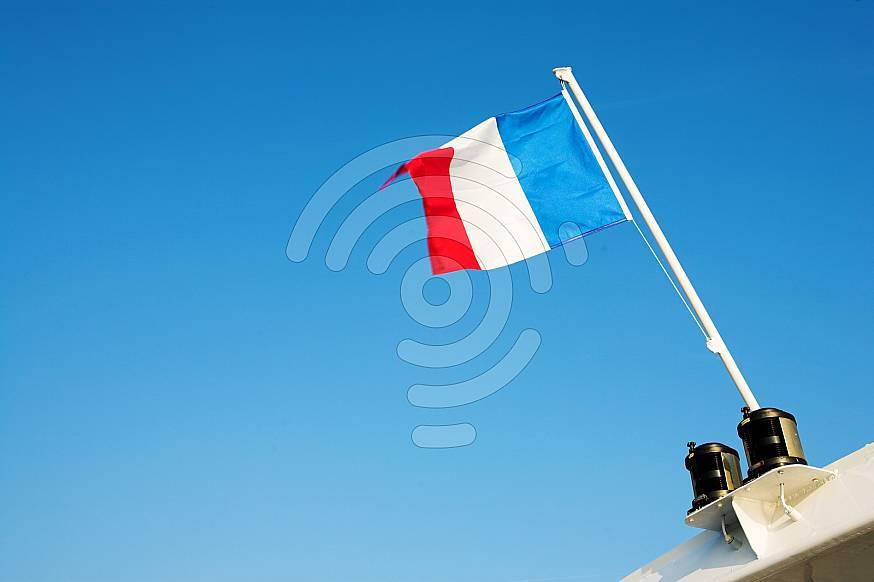 Waving French Flag