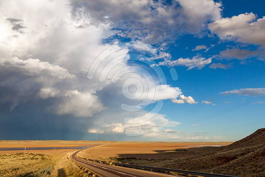 Road with beautiful sky and clouds