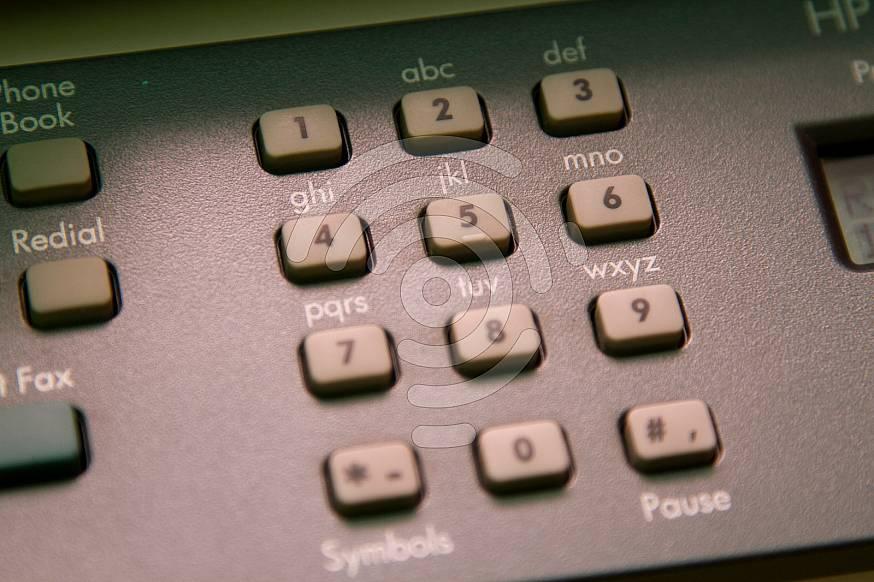 Close up of a phones dial pad