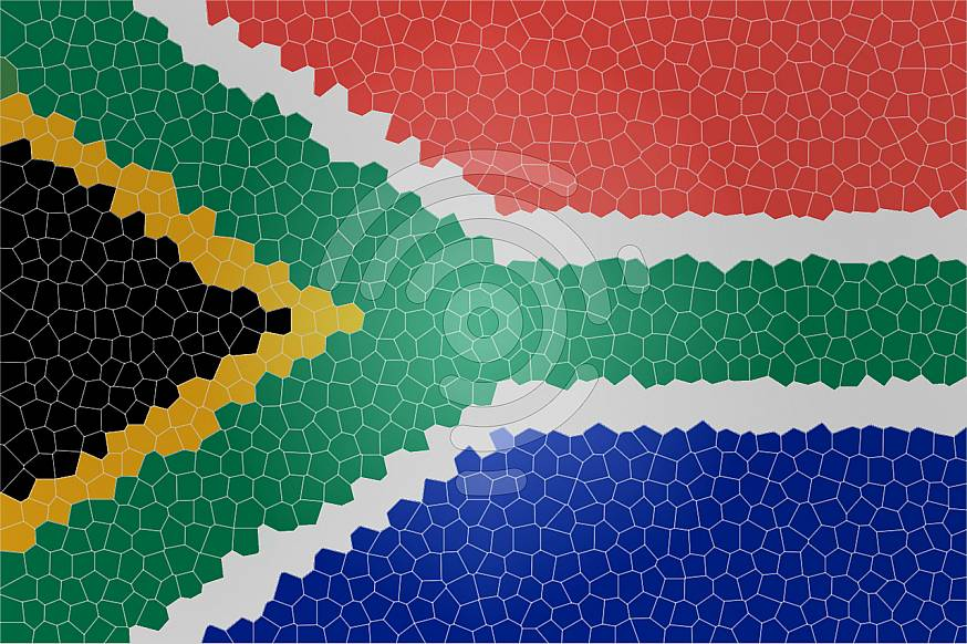 Rocked South African Flag