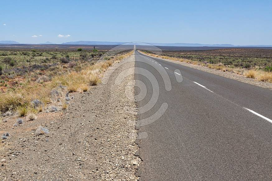 Tar road in countryside